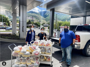Donation of meals to Brigham City Hospital