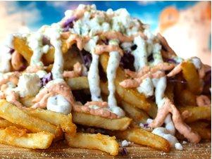 loaded feta fries